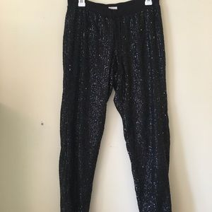 Justice Disco sequin baggy party pants